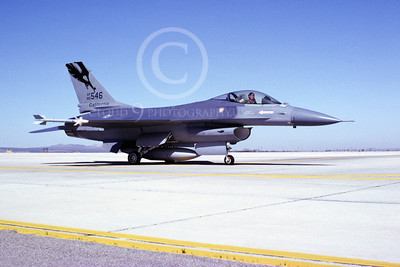 F-16ANG 00155 Lockheed Martin F-16 Fighting Falcon California Air National Guard 80546 George AFB 1992 by Peter J Mancus