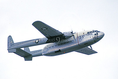 C-119ANG 00008 A flying Fairchild C-119 Flying Boxcar California ANG 38142 1-1973 military airplane picture by Peter B Lewis