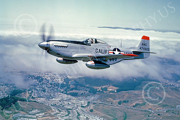 P-51ANG 00002 A superb flying California Air National Guard North American P-51D Mustang airplane picture, by William T Larkins