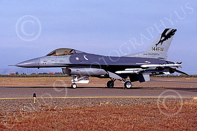 F-16ANG 00067 Lockheed Martin F-16 Fighting Falcon California Air National Guard 831144 Fresno April 1997 by Peter J Mancus