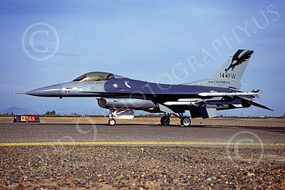 F-16ANG 00051 Lockheed Martin F-16 Fighting Falcon California Air National Guard Fresno 831144 April 1997 by Peter J Mancus