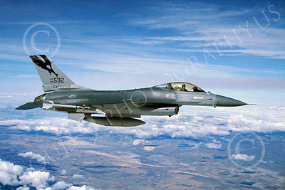 F-16ANG 00044 Lockheed Martin F-16 Fighting Falcon California Air National Guard 80592 by John Petersen
