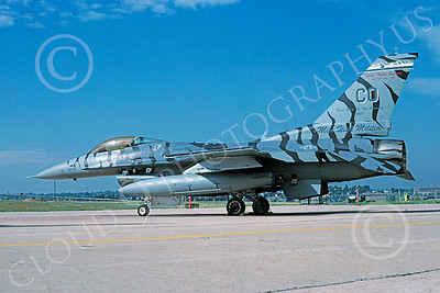 F-16ANG 00035 Lockheed Martin F-16 Fighting Falcon Colorado Air National Guard 87241 Aug 2001 via African Aviation Slide Service