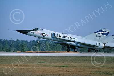 F-106AANG 00109 A flying Convair F-106A Delta Dart Florida ANG 72465 125th FW 159th FS FANG Tyndall AFB 3-1981 military airplane picture by L B Sides