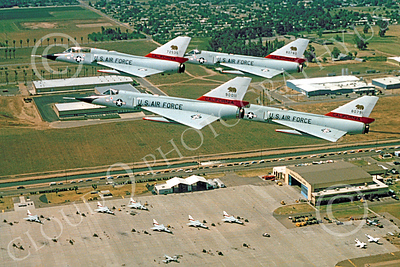 F-106ANG 00010 A formation of Convair F-106 Delta Darts over Fresno ANG air base, Official California ANG picture produced by Peter J Mancus of Cloud 9 Photography