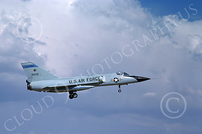 F-106AANG 00102 A landing Convair F-106A Delta Dart California ANG 90132 144th FW 194th FS GRIFFINS 8-1982 military airplane picture by Michael Grove, Sr