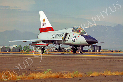 F-106BANG 00005 Convair F-106B Delta Dart California Air National Guard 72523 George AFB by Peter J Mancus