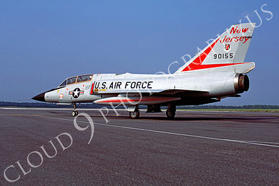 F-106BANG 00007 Convair F-106B Delta Dart New Jersey Air National Guard 90155 Atlantic City June 1987 by Peter J Mancus