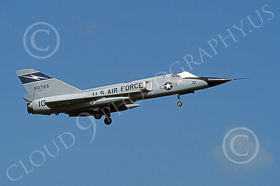 F-106AANG 00110 A landing Convair F-106A Delta Dart Florida ANG 80766 125th FW 159th FS 9-1986 military airplane picture by L B Sides