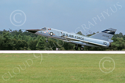 F-106AANG 00111 A landing Convair F-106A Delta Dart Florida ANG 80766 125th FW 159th FS FANG 8-1976 military airplane picture by L B Sides