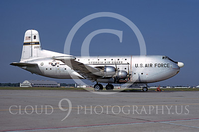 C-124ANG 00001 Douglas C-124 Globemaster II Georgia Air National Guard 21057 July 1974 by Ron McNeil