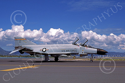 F-4ANG 00151 McDonnell Douglas F-4C Phantom II Hawaii Air National Guard 40851 Honolulu Nov 1985 military airplane picture by Peter J  Mancus