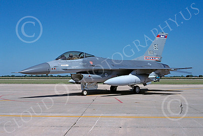 F-16ANG 00083 Lockheed Martin F-16 Fighting Falcon Illinois Air National Guard 83083 26 July 1991 by R B Gresby via AASS