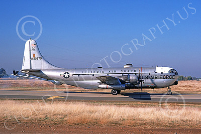 KC-97ANG 00017 A taxing Boeing KC-97L Stratotanker Illinois ANG 20870 McClellan AFB 7-1974 military airplane picture by Michale Grove, Sr