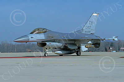F-16ANG 00047 Lockheed Martin F-16 Fighting Falcon Indiana Air National Guard 85407 via African Aviation Slide Service