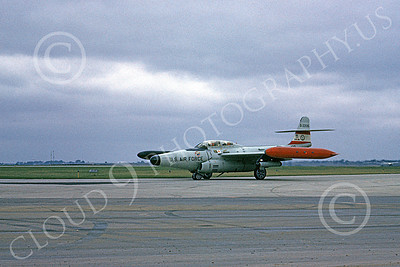 F-89ANG 00025 A taxing Northrop F-89J Scorpion Iowa ANG 522315 1-1968 military airplane picture by Peter B Lewis