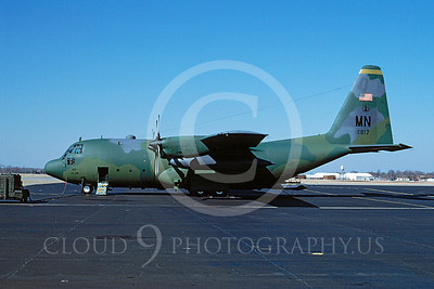C-130ANG 00009 Lockheed C-130 Hercules Minnesota Air National Guard 62817 3 February 1994 by Brian C Rogers via African Aviation Slide Service