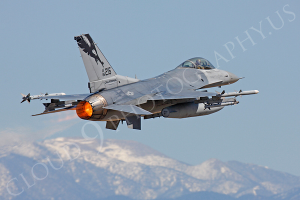 F-16ANG 00040 Lockheed Martin F-16 Fighting Falcon California ANG 86215 by Peter J Mancus