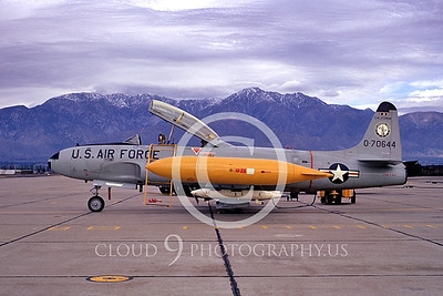 T-33ANG 00021 Lockheed T-33 Shooting Star California ANG Feb 1973 Ontario by Peter J Mancus