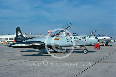 T-33ANG 00025 Lockheed T-33 Shooting Star Pennsylvania ANG Nov 1974 by Bill Sides