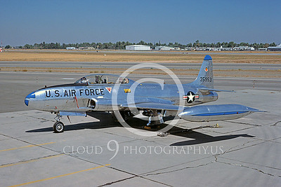 T-33ANG 00027 Lockheed T-33 Shooting Star California ANG Sept 1983 by Peter J Mancus