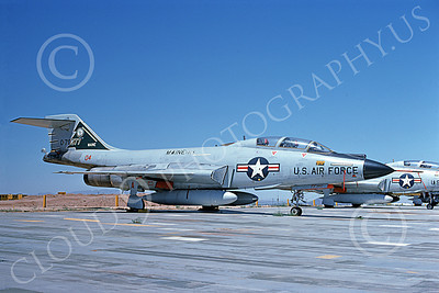 F-101BANG 00081 A static McDonnell F-101B Voodoo Maine ANG 70377 MAINEIACS 6-1976 military airplane picture by Peter B Lewis