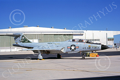 F-101BANG 00083 A static McDonnell F-101B Voodoo Maine ANG 80288 MAINEIACS 8-1976 military airplane picture by L B Sides