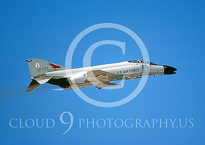 F-4ANG 00116 McDonnell Douglas F-4 Phantom II Oregon ANG # 37707 Jan1985 by Peter J Mancus