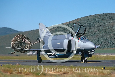 CHUTE 00075 McDD F-4 Phantom II Oregon ANG # 37683 Kingsley Fld June 1989 by Peter J Mancus