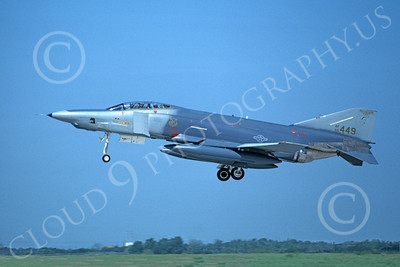 F-4ANG 00262 A landing McDonnell Douglas RF-4C Phantom II Mississippi Air National Guard 66449 183rd TRS 8-1990 airplane picture by Michael Grove, Sr