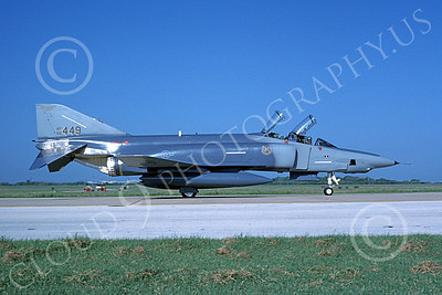 F-4ANG 00207 A taxing McDonnell Douglas RF-4C Phantom II Mississippi Air National Guard 66449 183rd TRS 8-1990 military airplane picture by Michael Grove, Sr