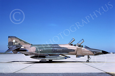 F-4ANG 00191 McDonnell Douglas RF-4C Phantom II Alabama Air National Guard 64997 D-M AFB 24 March 1979 military airplane picture by Ben Knowles, Jr