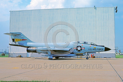 F-101B-NY ANG 0003 A static McDonnell F-101B Voodoo New York Air National Guard 90426 US Cold War era Century Series interceptor 6-1974 military airplae picture by Ron McNeil     DONEwt
