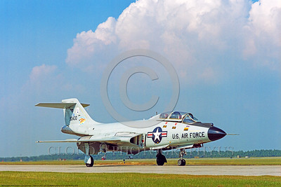 F-101B-NY ANG 0005 A taxing McDonnell F-101B Voodoo New York Air National Guard 90430 US Cold War era Century Series interceptor during William Tell air defense competition at Tyndall AFB 10-1974 military airplane picture by Peter J Mancus     DONEwt