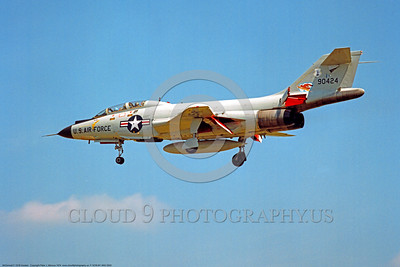 F-101B-NY ANG 0002 A landing McDonnell F-101B Voodoo New York Air National Guard 90424 US Cold War era Century Series interceptor 1974 military airplane picture by Peter J Mancus     DONEwt