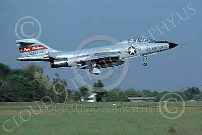 F-101BANG 00020 A landing McDonnell F-101B Voodoo North Dakota ANG 80271 Happy Hooligans McClelland AFB military airplane picture by Peter B Lewis