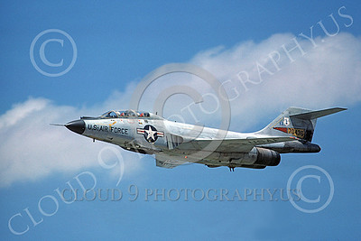 F-101BANG 00026 A flying McDonnell F-101B Voodoo New York ANG 70436 6-1977 military airplane picture by George Kane
