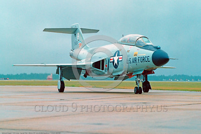 F-101B-NY ANG 0001 A taxing McDonnell F-101B Voodoo New York Air National Guard 90424 US Cold War era Century Series interceptor at William Tell air defense competition Tyndall AFB 11-1978 military airplane picture by Peter J Mancus     DONEwt