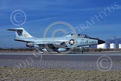 F-101BANG 00003 A taxing McDonnell F-101B Voodos New York ANG 90417 12-1981 military airplane picture by Brian C Rogers