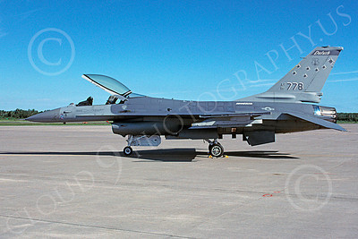 F-16ANG 00055 Lockheed Martin F-16 Fighting Falcon Minnesota Air National Guard 81778 via African Aviation Slide Service