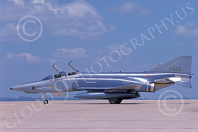 F-4ANG 00125 McDonnell Douglas RF-4C Phantom II Mississippi Air National Guard 66425 183rd TRS 8-1988 military airplane picture by Michael Grove, Sr