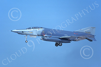 F-4ANG 00262A A landing McDonnell Douglas RF-4C Phantom II Mississippi Air National Guard 66449 183rd TRS 8-1990 military airplane picture by Michael Grove, Sr