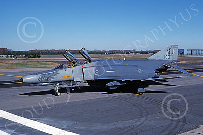 F-4ANG 00123 McDonnell Douglas F-4E Phantom II New Jersey Air National Guard  680527 108TFW Nov 1990 military airplane picture by Michael Grove, Sr