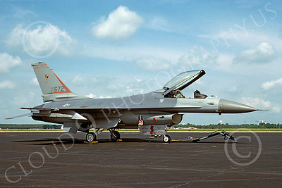 F-16ANG 00111 Lockheed Martin F-16 Fighting Falcon New Jersey Air National Guard 81672 15 June 1993 by Brian C Rogers via African Aviation Slide Service