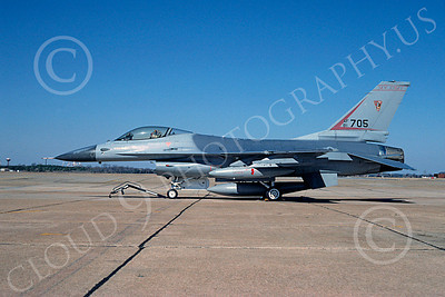 F-16ANG 00045 Lockheed Martin F-16 Fighting Falcon New Jersey Air National Guard 81705 by Brian C Rogers 26 Feb 1994 via African Aviation Slide Service