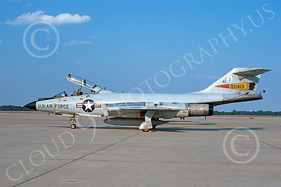 F-101BANG 00059 A static McDonnell F-101B Voodoo New York ANG 90413 7-1986 by Al Aldridge