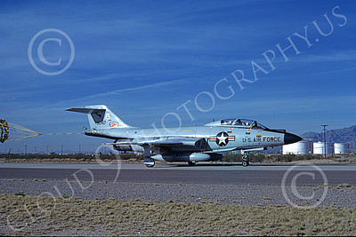 F-101BANG 00061 A taxing McDonnell F-101B Voodos New York ANG 90417 12-1981 military airplane picture by Brian C Rogers