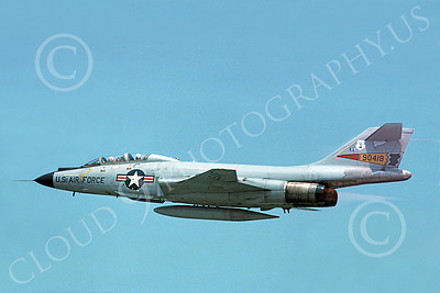 F-101BANG 00040 A flying McDonnell F-101B Voodoo New York ANG 90418 military airplane picture by Charles Wilson