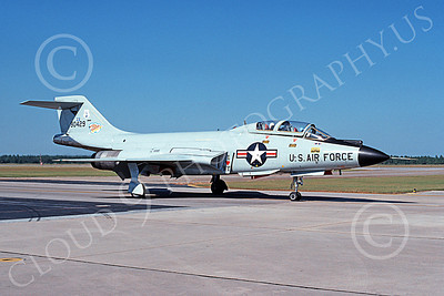 F-101BANG 00067 A taxing McDonnell F-101B Voodoo New York ANG 90429 Tyndall AFB 10-1980 military airplane picture by Ray Leader