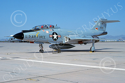 F-101BANG 00073 A static McDonnell F-101B Voodoo New York ANG 90414 D-M AFB 10-1982 military airplane picture by Bruce Stewart